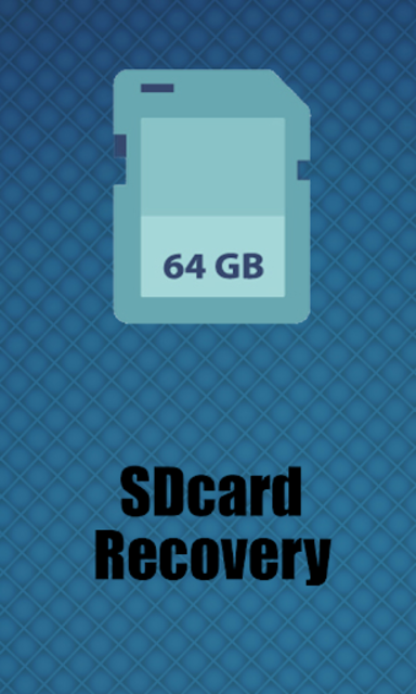 SDcards Recovery screenshot 1