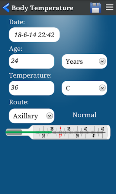 Body Temperature screenshot 4