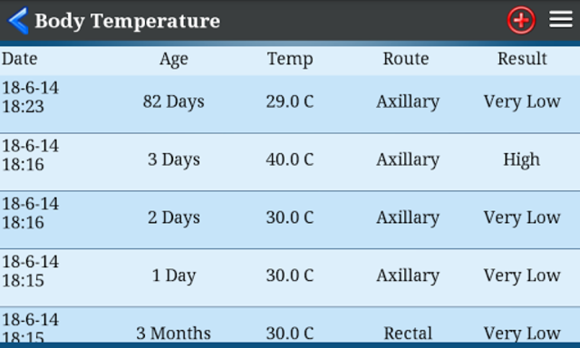 Body Temperature screenshot 3
