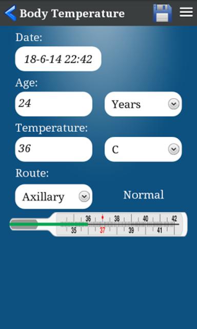 Body Temperature screenshot 4