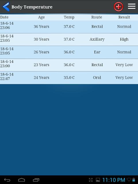 Body Temperature screenshot 10