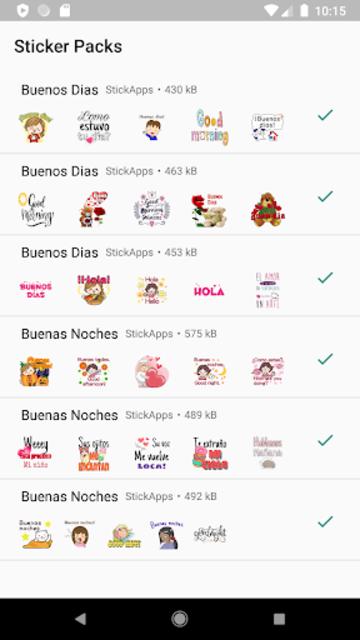 Buenos Dias Buenas Noches Stickers- WAStickerApps screenshot 1