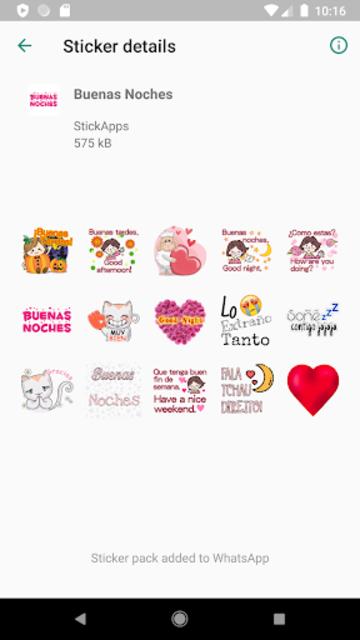 Buenos Dias Buenas Noches Stickers- WAStickerApps screenshot 4