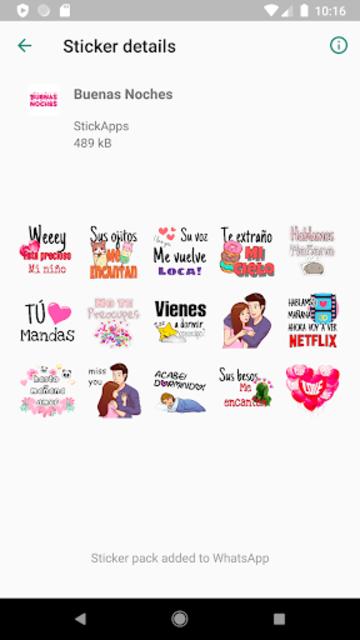Buenos Dias Buenas Noches Stickers- WAStickerApps screenshot 5