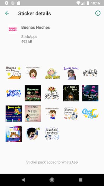 Buenos Dias Buenas Noches Stickers- WAStickerApps screenshot 6