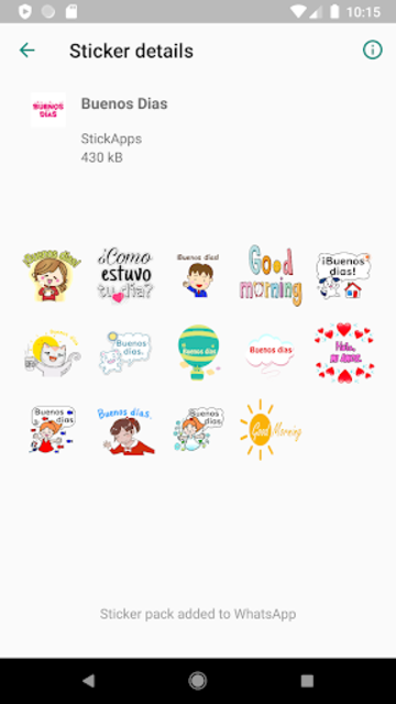 Buenos Dias Buenas Noches Stickers- WAStickerApps screenshot 8