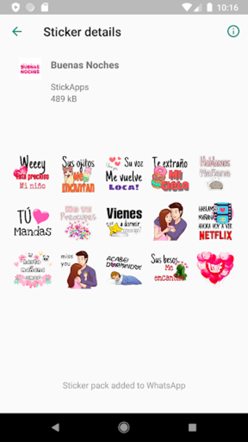 Buenos Dias Buenas Noches Stickers- WAStickerApps screenshot 11