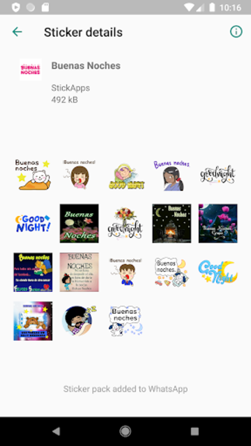 Buenos Dias Buenas Noches Stickers- WAStickerApps screenshot 12