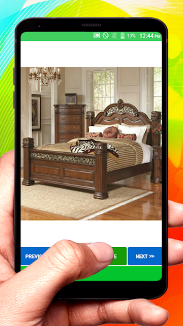 Wooden Designer Bed screenshot 3