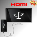 Icon for TV Connector-(hdmi-usb-otg-mhl checker-screen mir)