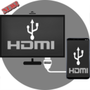 Icon for TV HDMI - MHL- USB - Connector