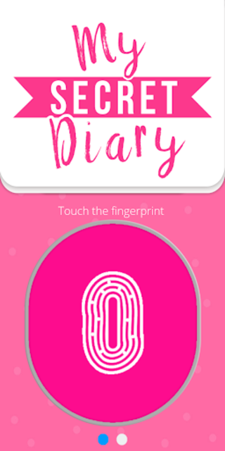 My personal diary with fingerprint password screenshot 1