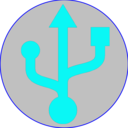 Icon for usb otg settings driver connect phone for android