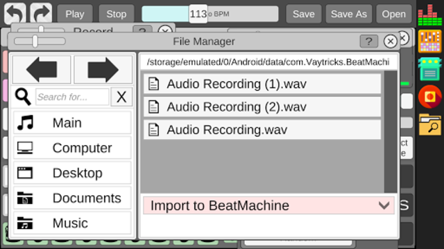Beat Machine - Audio Sequencer screenshot 8