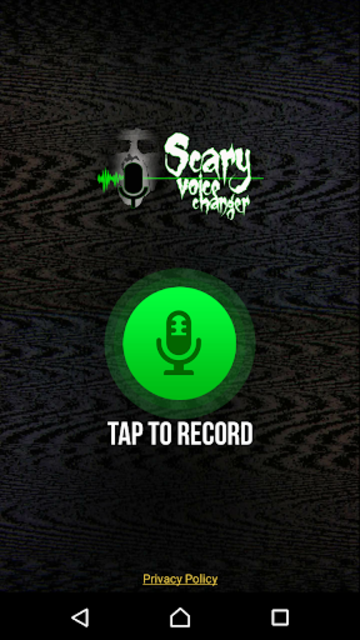 Scary Voice Changer - Horror Sounds Voice Recorder screenshot 1