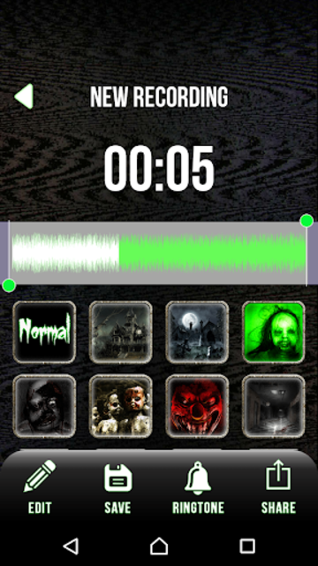 Scary Voice Changer - Horror Sounds Voice Recorder screenshot 2
