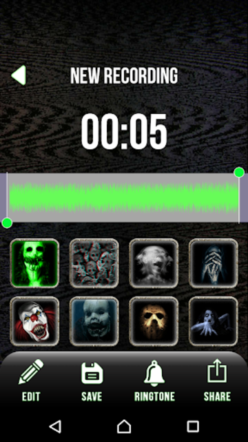 Scary Voice Changer - Horror Sounds Voice Recorder screenshot 5