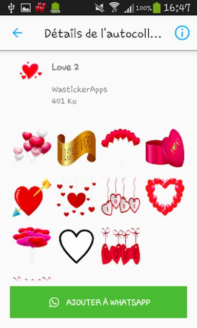 Love & Relationship stickers -WAStickerApps screenshot 3
