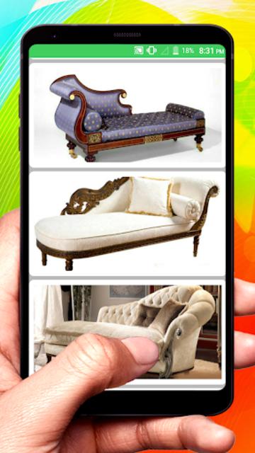 Wooden Sofa Set Design idea screenshot 3