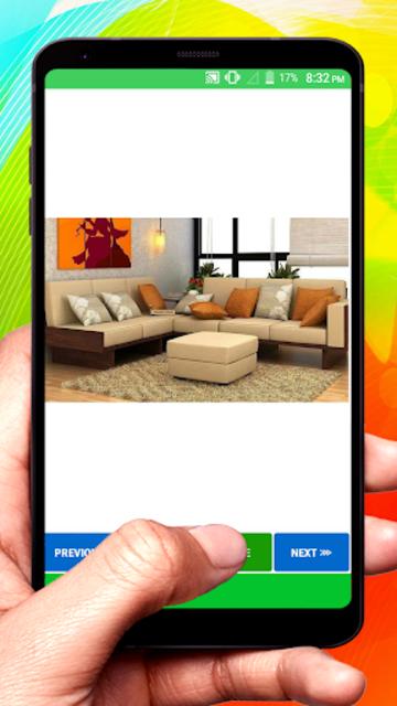 Wooden Sofa Set Design idea screenshot 5