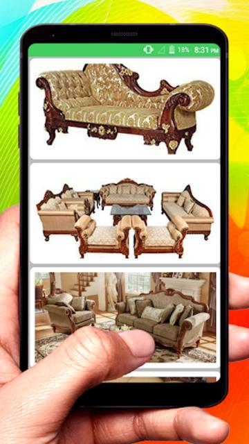 Wooden Sofa Set Design idea screenshot 9