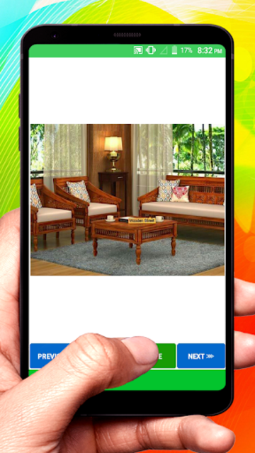 Wooden Sofa Set Design idea screenshot 14