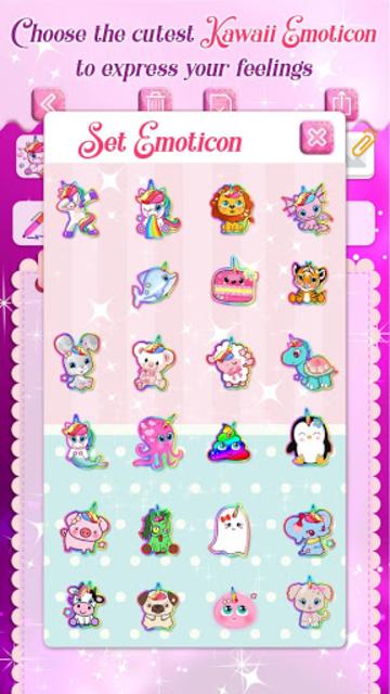 Unicorn Secret Diary with Lock 🦄 Personal Journal screenshot 3