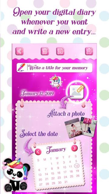 Unicorn Secret Diary with Lock 🦄 Personal Journal screenshot 4