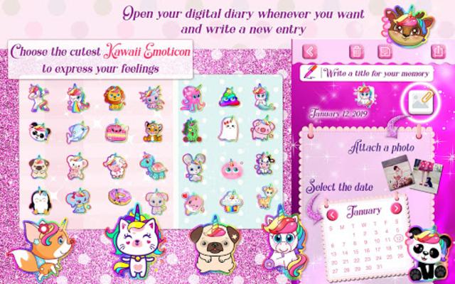 Unicorn Secret Diary with Lock 🦄 Personal Journal screenshot 8
