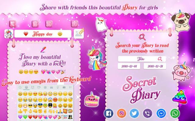 Unicorn Secret Diary with Lock 🦄 Personal Journal screenshot 12