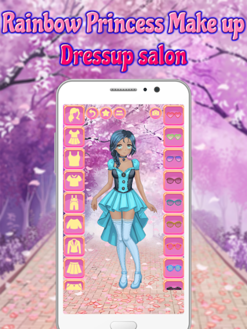 Rainbow Princess Make up Dressup salon: Girls Game screenshot 16