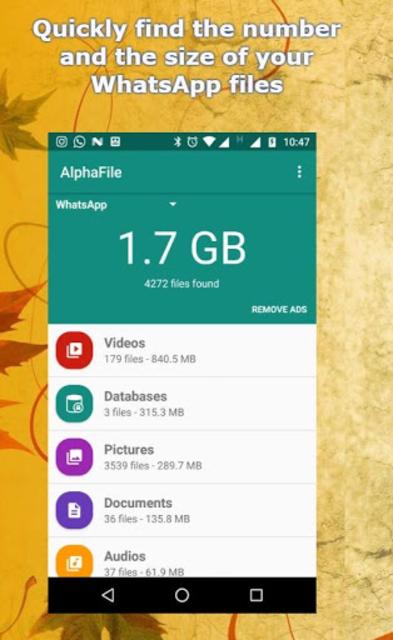 AlphaFile - WhatsApp File Cleaner screenshot 1