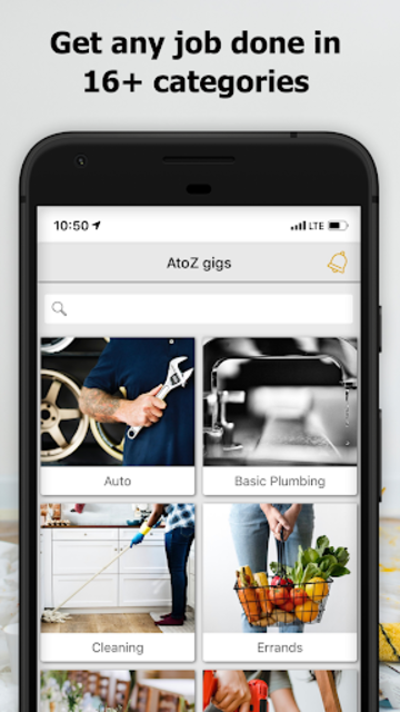 AtoZ Gigs: Nearby Service - Hire / Find Local Jobs screenshot 1