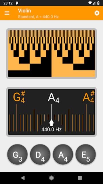 Guitar and Violin Tuner screenshot 2