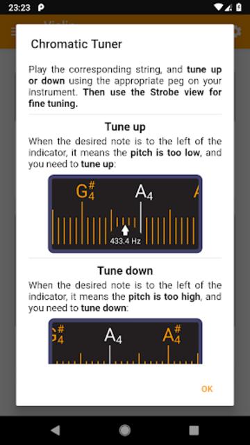 Guitar and Violin Tuner screenshot 6