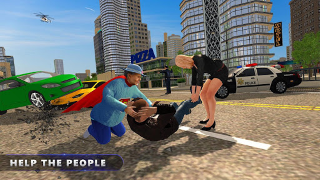 Flying Super Granny Hero Adventure screenshot 4