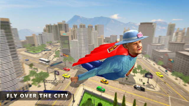 Flying Super Granny Hero Adventure screenshot 5