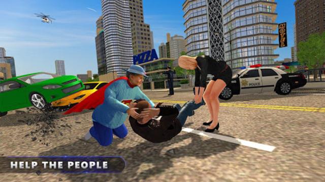 Flying Super Granny Hero Adventure screenshot 8