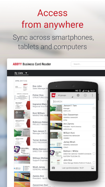 About business card reader pro business card scanner google play business card reader pro business card scanner screenshot 5 reheart Image collections