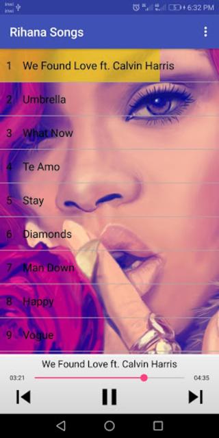 Rihanna Songs (without internet) screenshot 1