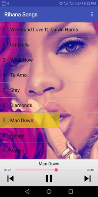 Rihanna Songs (without internet) screenshot 2