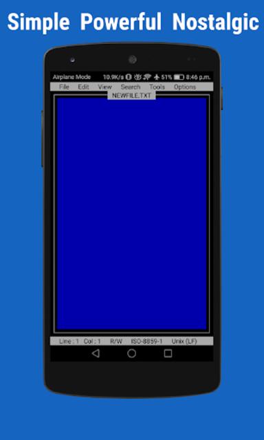 OldSchool Editor : Text Editor screenshot 1