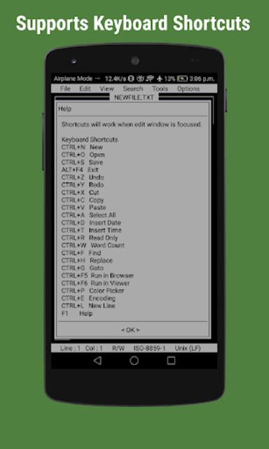 OldSchool Editor : Text Editor screenshot 7