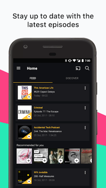 Acast - Podcast Player screenshot 1