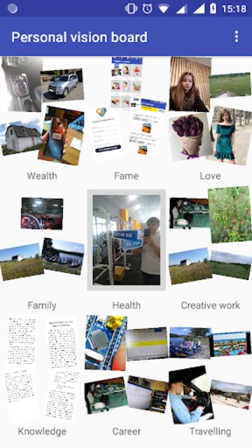 Personal vision board screenshot 1
