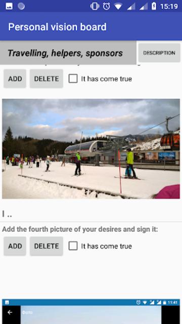 Personal vision board screenshot 5