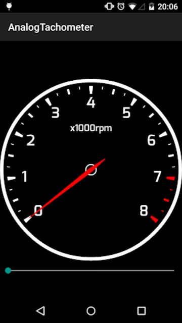 Analog Tachometer screenshot 1