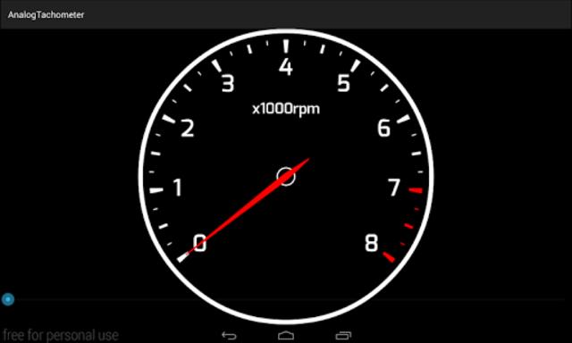 Analog Tachometer screenshot 2