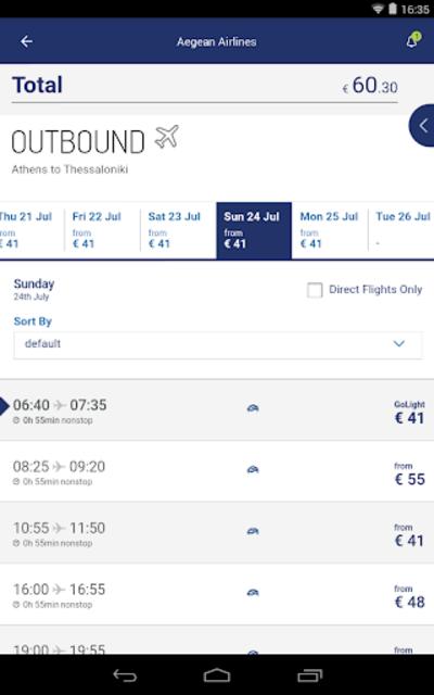 Aegean Airlines screenshot 17