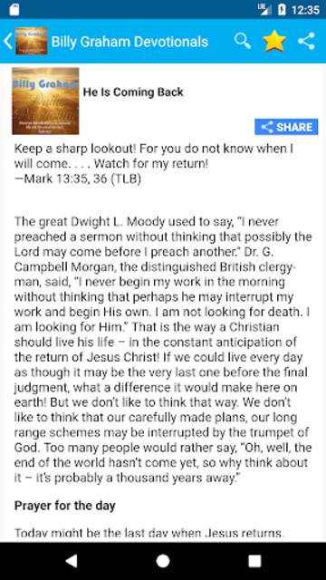 Billy Graham Daily Devotion - Ad Free Version screenshot 3
